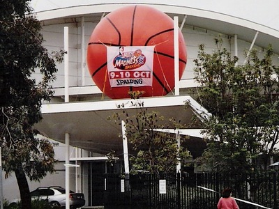 Inflatable Basketball Rooftop Display