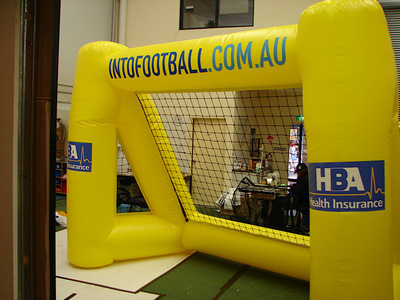 Football soccer inflatable interactive net