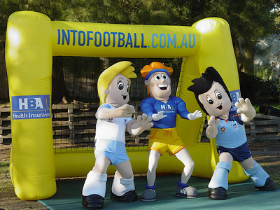 Inflatable Promotional Football Net for sponsors