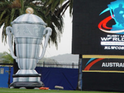 Rugby League World Cup Inflatable Trophy