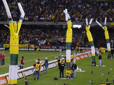 Wallabies Inflatable Dancers on Field