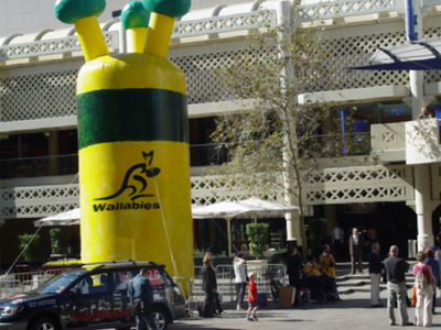 Wallabies One Eyed Giant Inflatable Fan