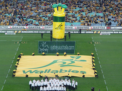 Wallabies One eyed Inflatable fan Pre Game event