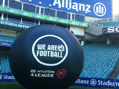 We are Football Inflatable Logo Allianz Stadium
